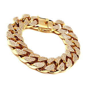 10k Gold Plated Cuban Bracelet