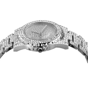 Luxury Hip Hop Iced Silver Watch
