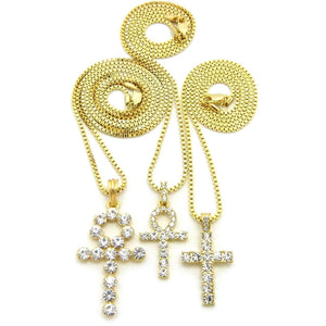 Diamond Egyptian Ankh Set