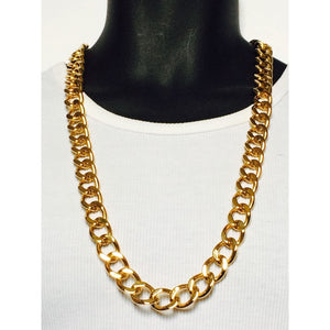 Stainless Steel Gold Finish Cuban Chain
