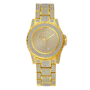 Luxury Hip Hop Iced Gold Watch