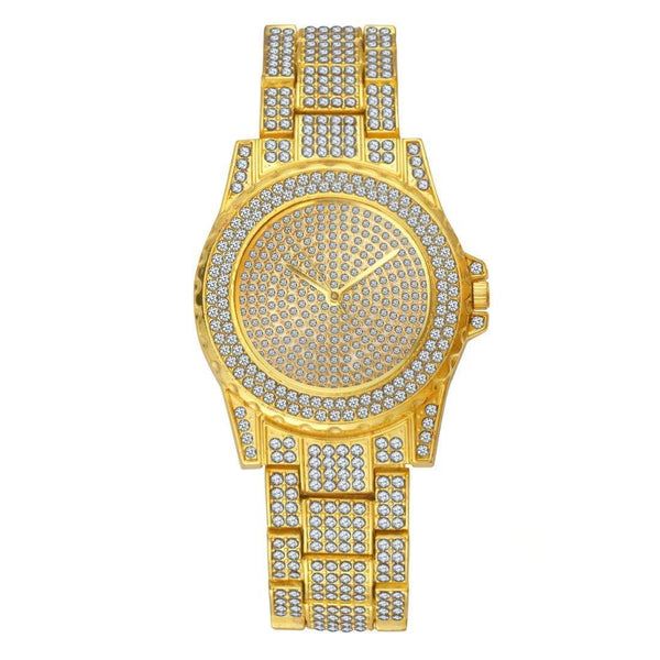 Luxury Hip Hop Iced Out Gold Watch