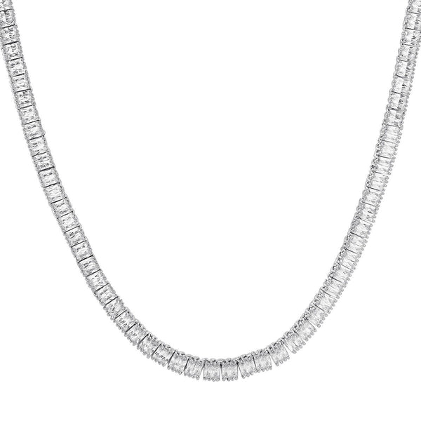 5mm White Gold Single Row Tennis Chain