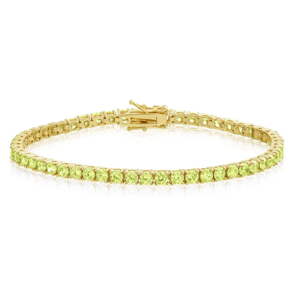 1 Row Tennis Bracelet Yellow