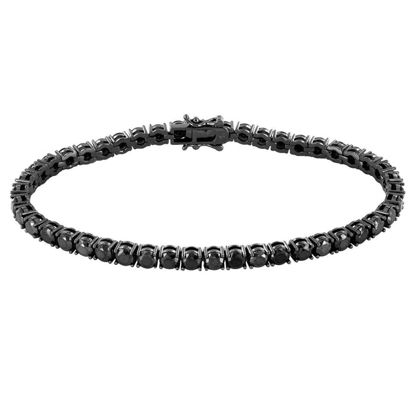 1 Row Tennis Bracelet Black