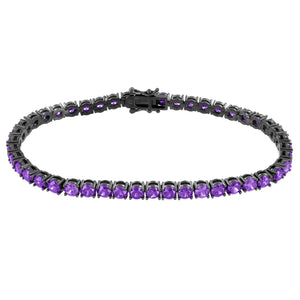 1 Row Tennis Bracelet Purple