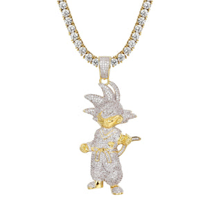 Cartoon Character Super Saiyan Pendant