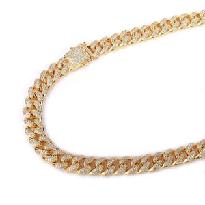 12mm Iced Cuban Link Chain