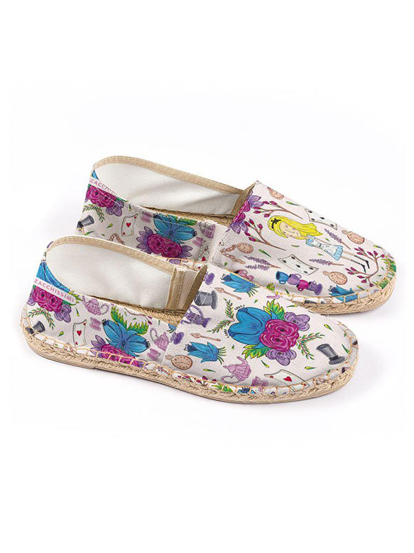 Wonderlust | Alice in Wonderland Inspired Espadrilles Floral Shoes