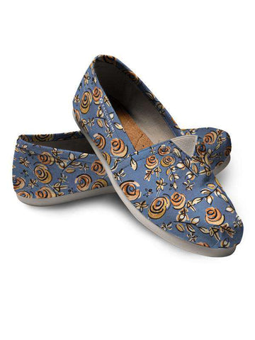 Espadrilles Shoes | Your Hand Painted Pet & Florals Blue