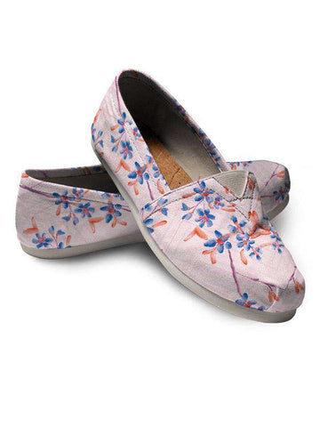 Espadrilles Shoes | Your Hand Painted Pet & Florals S Blue