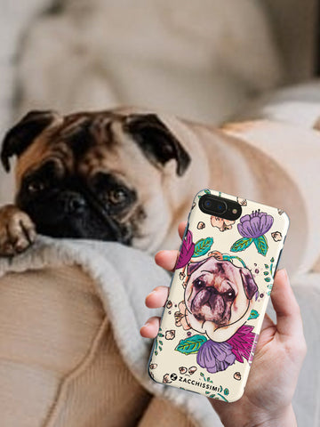 Phone Case - Your Hand Painted Pet & Florals Pink