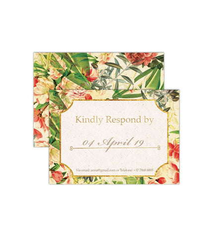 Fuchsia - RSVP Card | From US$0.84 Each