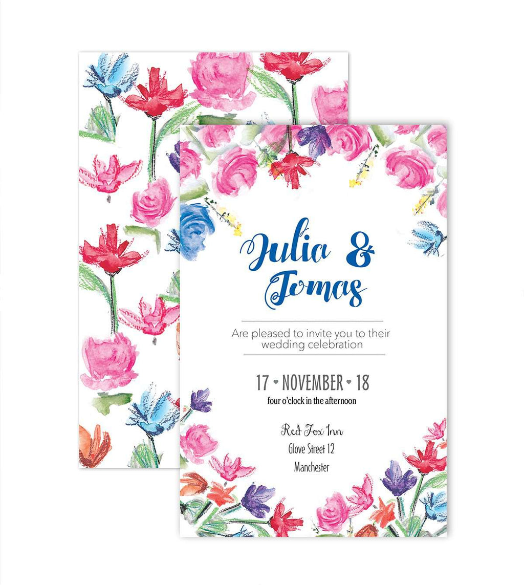 Wedding Invite Print Custom