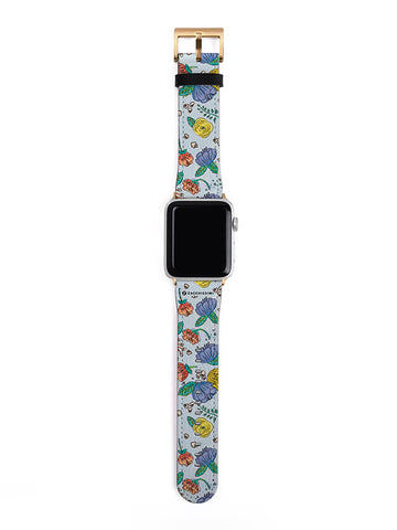 Apple Watch Strap | Pet & Florals Blue