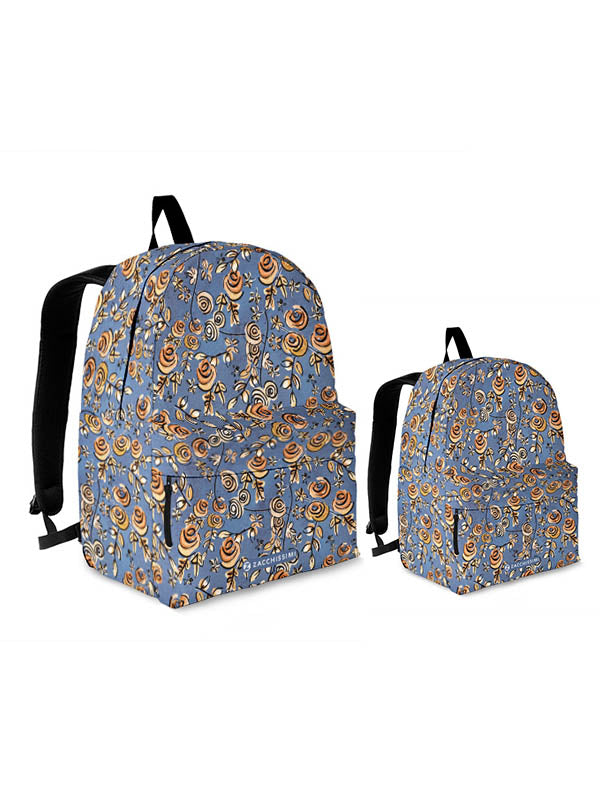 Kit Backpack Mini Me | Free as a Bird Flowers Blue