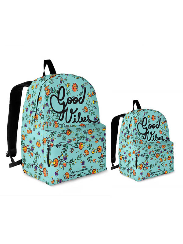 Kit Backpack Mini Me | Good Vibes Green