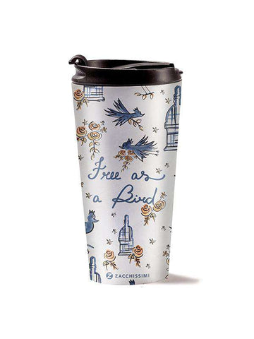 Travel Mug - Free as a Bird - Blue