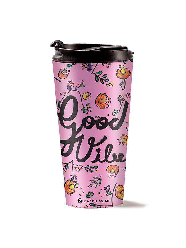 Travel Mug - Good Vibes - Pink