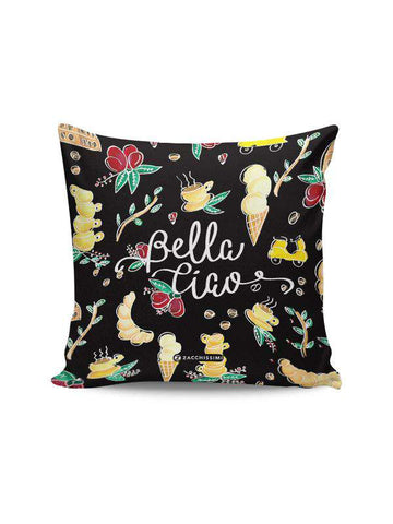 Cushion } Bella Ciao Black