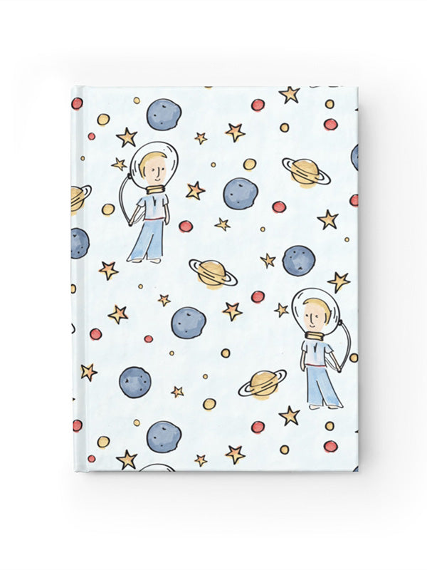 Cute Hardcover Journal Notebook | Little Astronaut