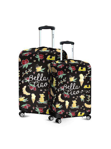 Luggage Cover | Good Vibes Black
