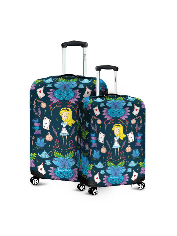 Luggage Cover | Wonderlust Blue