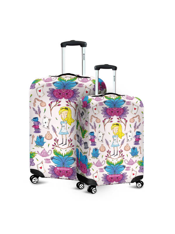 Luggage Cover | Wonderlust Pink