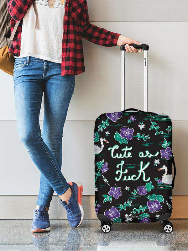 Luggage Cover | Cute as Fuck, , Zacchissimi, pattern, design
