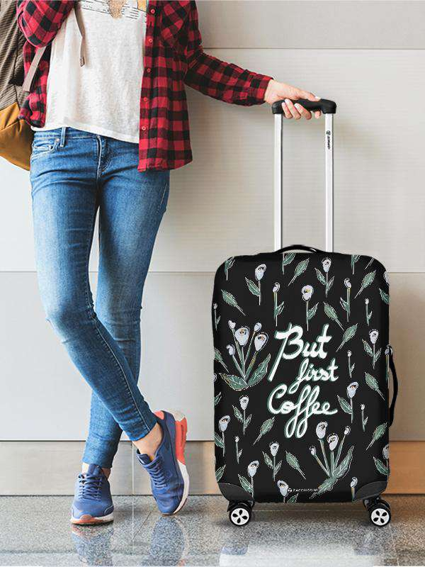 Luggage Cover | First Coffee, , Zacchissimi, pattern, design