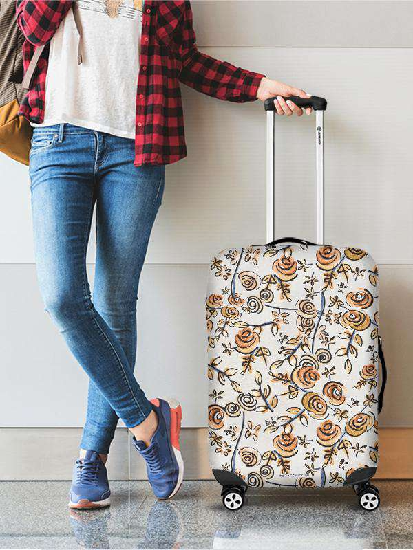 Luggage Cover | Free as a Bird Flowers, , Zacchissimi, pattern, design