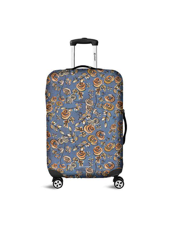 Luggage Cover | Free as a Bird Blue, , Zacchissimi, pattern, design