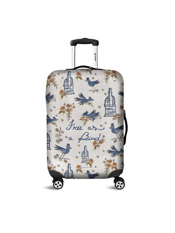 Luggage Cover | Free as a Bird, , Zacchissimi, pattern, design