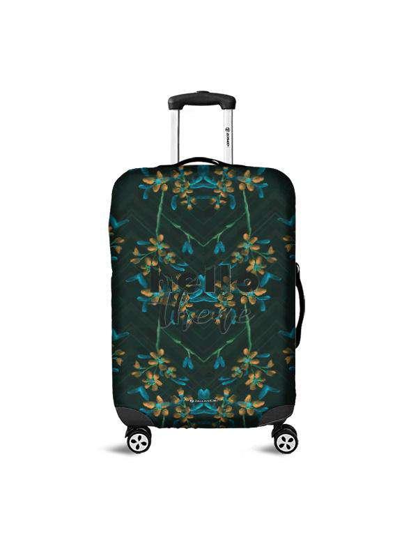 Luggage Cover | Hello There Black, , Zacchissimi, pattern, design