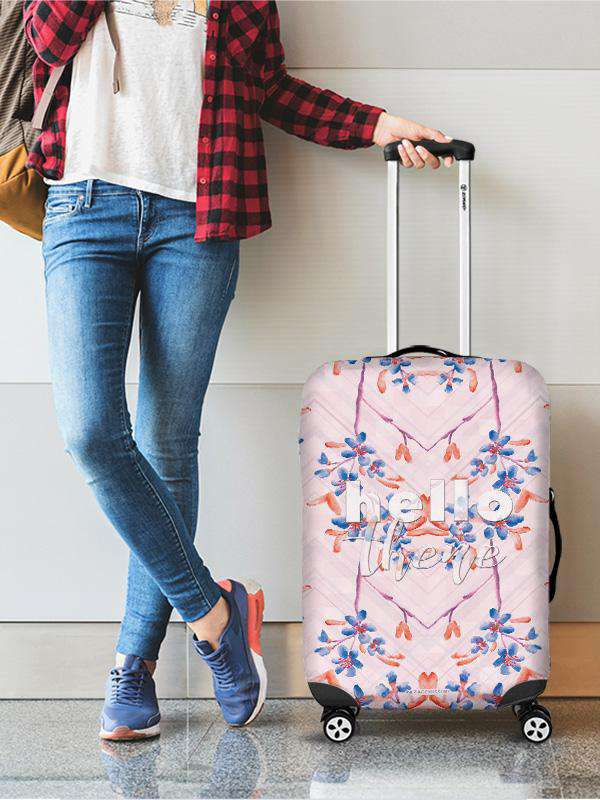 Luggage Cover | Hello There, , Zacchissimi, pattern, design