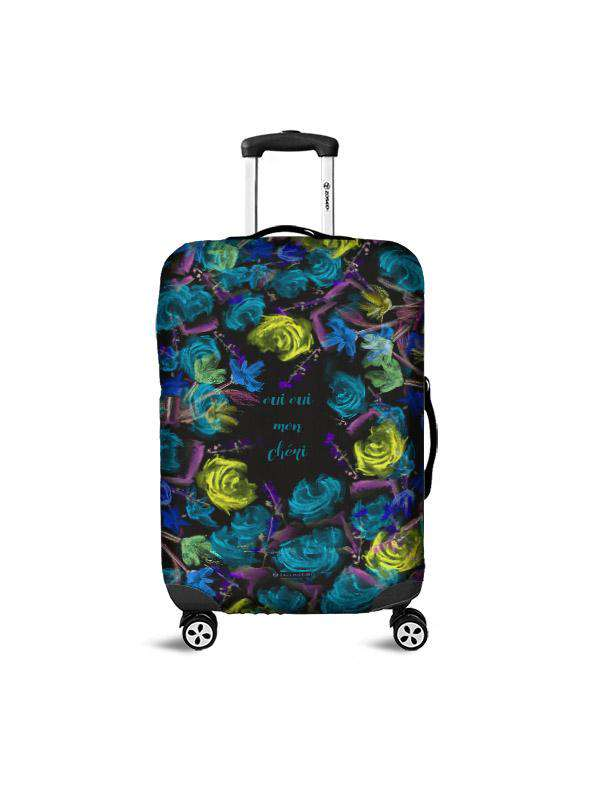 Luggage Cover | Oui Oui Black, , Zacchissimi, pattern, design