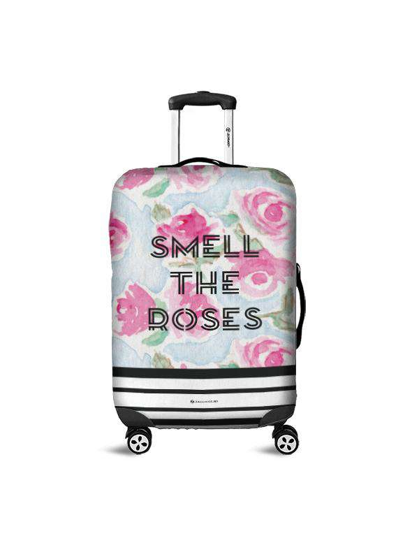 Luggage Cover | Smell The Roses, , Zacchissimi, pattern, design