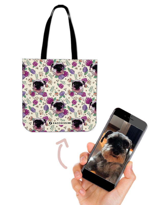 Custom personalised tote bag cat and dog