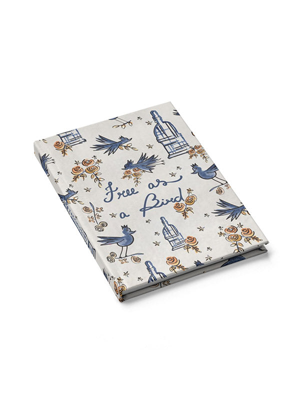 Notebook - Free as a Bird Blue, Notebooks, Zacchissimi, pattern, design
