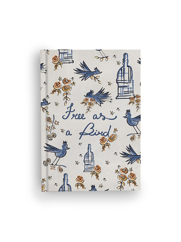 Zacchissimi notebook journal hardcover free as a bird