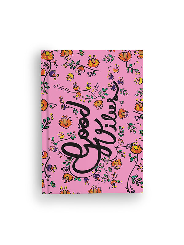 Notebook - Good Vibes Pink