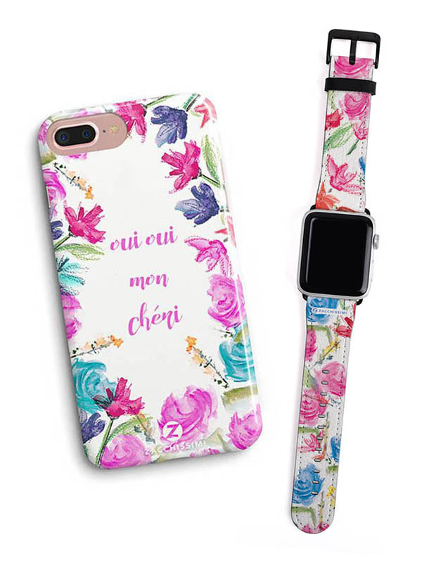 Kit Phone Case & Watch Strap | Oui Oui Pink