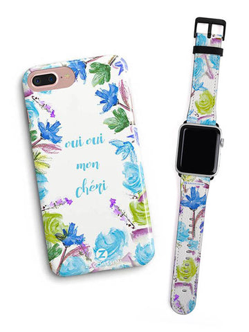 Kit Phone Case & Watch Strap | Oui Oui Blue