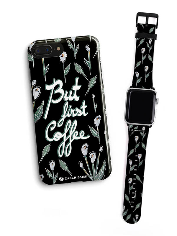 Kit Phone Case & Watch Strap | First Coffee