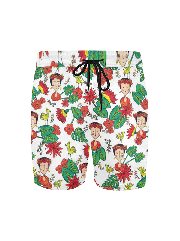 Frida Kahlo Inspired Swimwear Mans Swim Shorts | Tropicalia