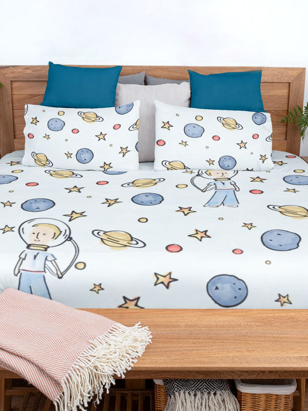 Cute Duvet Cover Little Astronaut