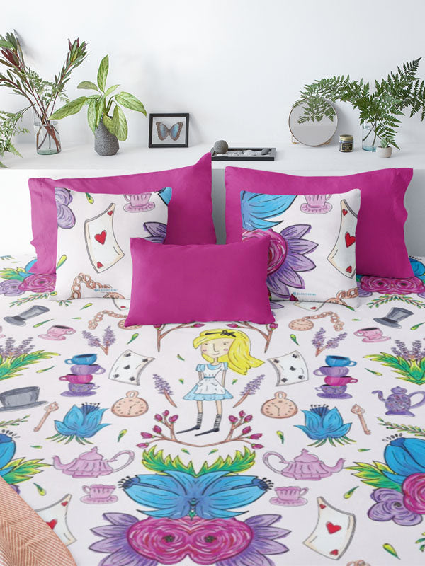Wonderlust | Alice in Wonderland Inspired Bedding Floral Duvet Cover