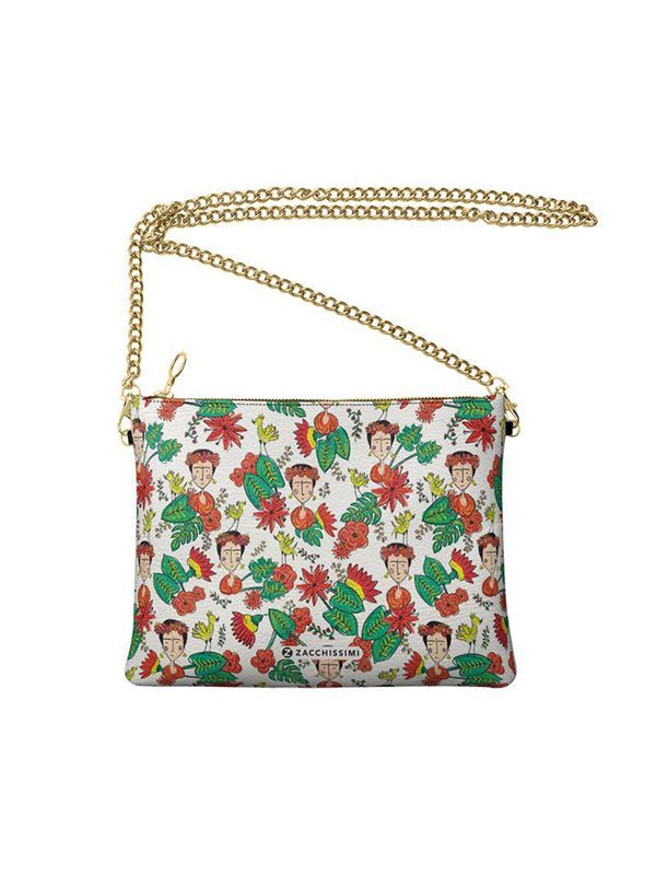 Frida Kahlo Inspired Vegan Leather Shoulder Bag| Tropicalia