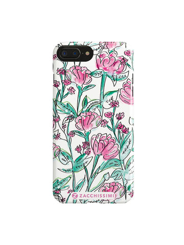 Phone Case - Your Hand Painted Pet & Florals S Blue