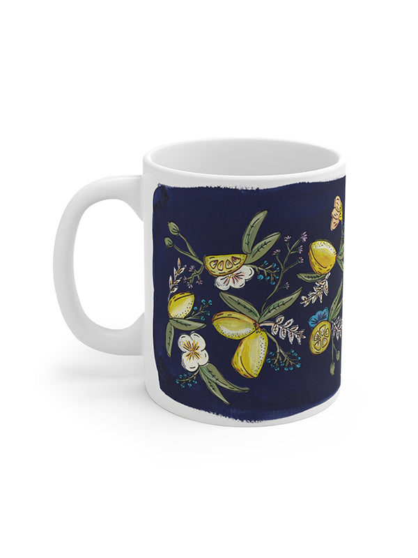 cute mug lemon pattern amalfi